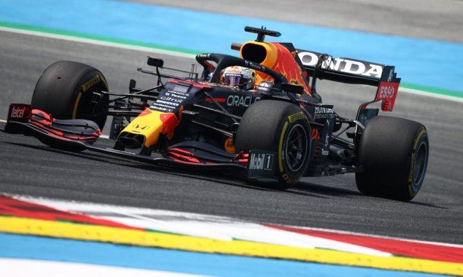 Max Verstappen in action at the Styrian GP