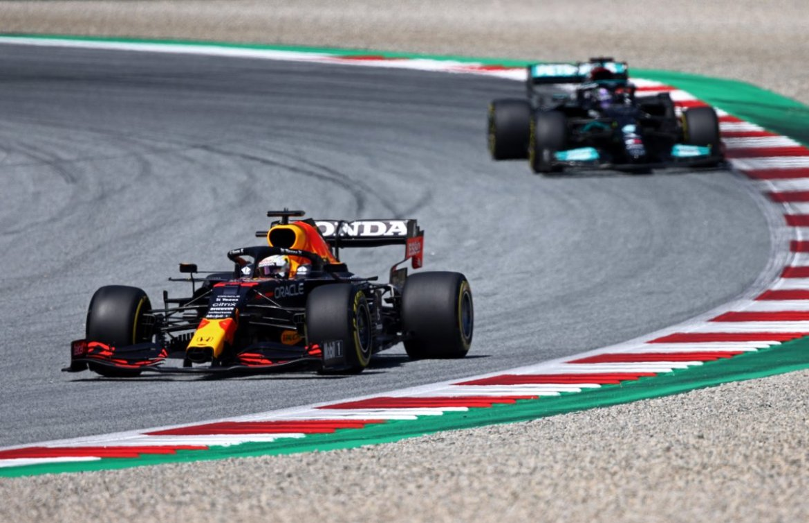 Max Verstappen during Q2 in Styrian GP qualifying