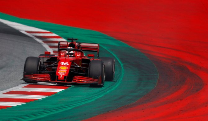 Ferrari's Charles Leclerc during the Styrian GP race