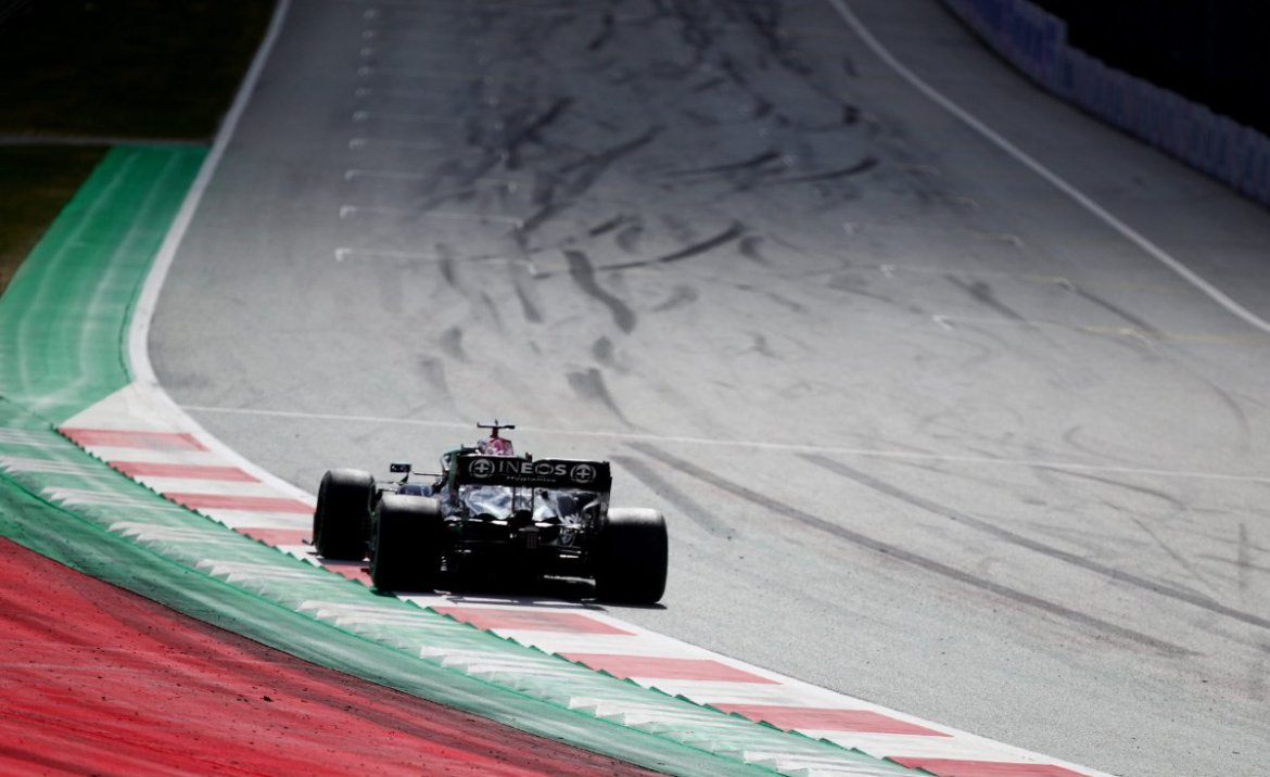 Lewis Hamilton during the race in Styria