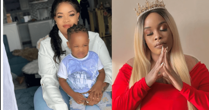 Socialite Bridget Achieng reacts after her nude videos and photos were leaked by a Nigerian friend
