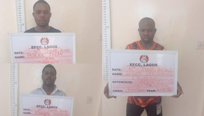 Lagos: Three arrested for producing fake foreign currencies