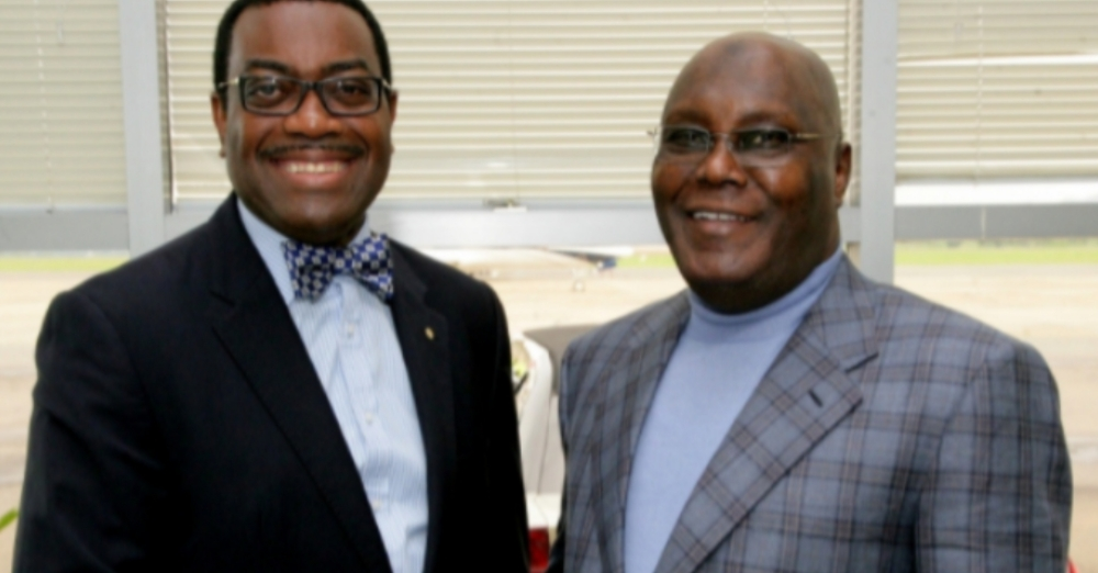 Adesina reveals how Atiku contributed to his emergence as AfDB president