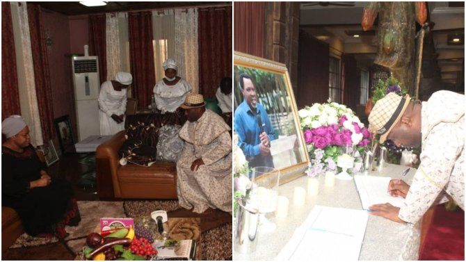 Photos: Primate Ayodele opens up on TB Joshua during visit to widow