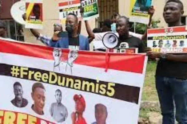 """""""BuhariMustGo"""" Protesters: Amnesty Int'l calls for immediate release of five arrested at Dunamis church"""