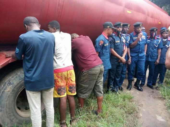 NSCDC impounds two trucks with adulterated AGO, petroleum products, arrests five suspects in Akwa Ibom