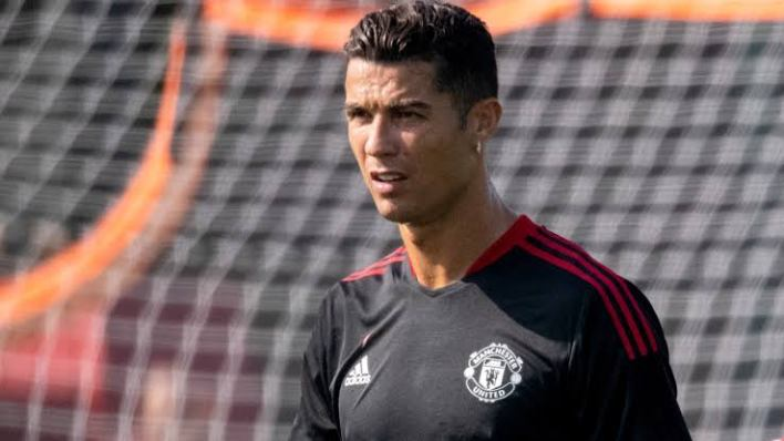 Photos Of Ronaldo In His First Training Session With Manchester United