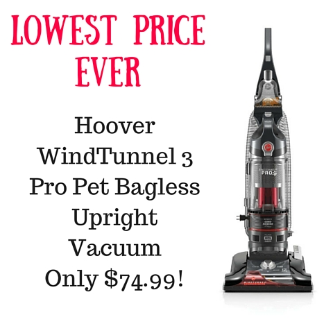 Big Amazon Price Drop Hoover Windtunnel 3 Pro Pet Bagless Upright Vacuum 74 99