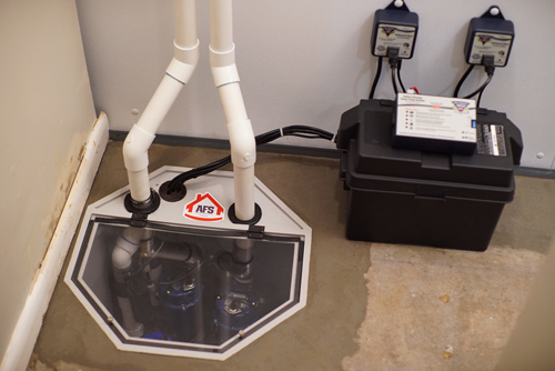 Completed triple safe sump pump with battery backup