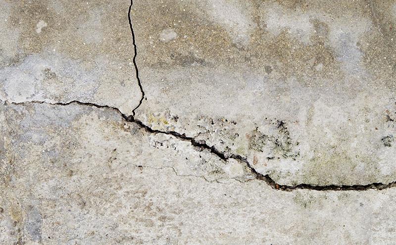 Cracks in concrete floor
