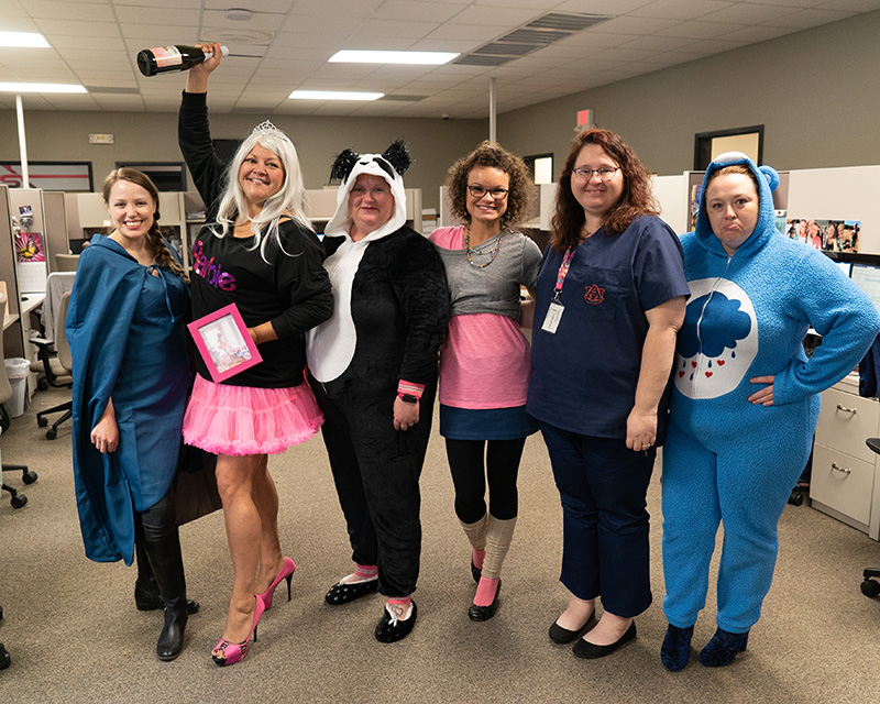 AFS staff celebrating halloween in the office