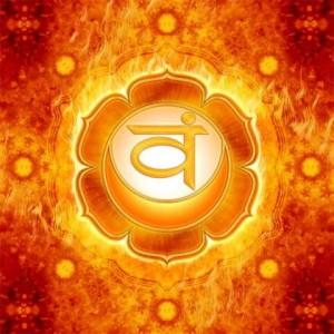 Chakra 2, het Sacraalchakra, dat over emoties, plezier en seksualiteit gaat