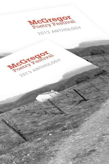 Cover detail of the 2013 McGregor Poetry Anthology