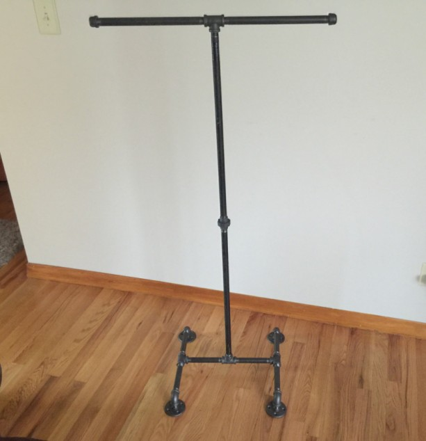 clothing rack industrial black iron pipe clothes stand garment rack coat rack portable rack