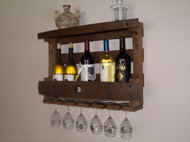 rustic wine barrel wine liquor bottle rack barrel stave pallet board wine rack
