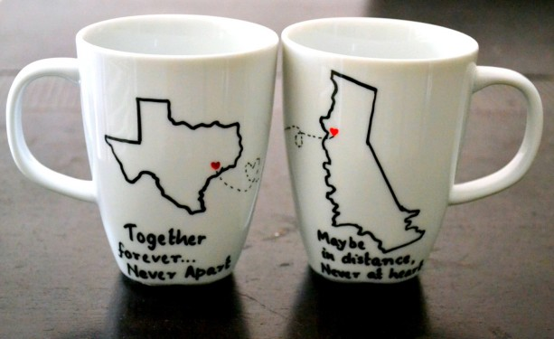 Long Distance Relationship Mugs State To State Coffee