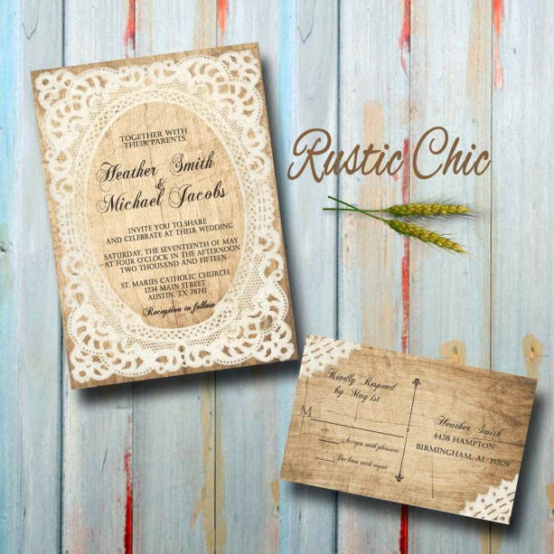 Unique Wedding Invitations Rsvp Cards