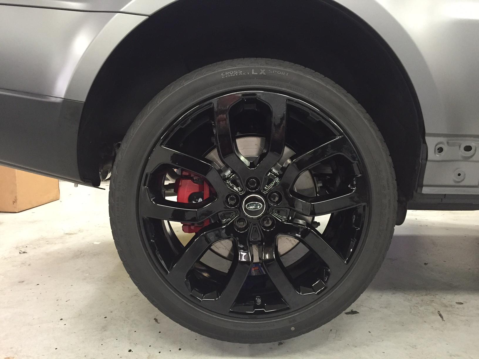 Land Rover Sport Xpel Matte Stealth Powder coat rims