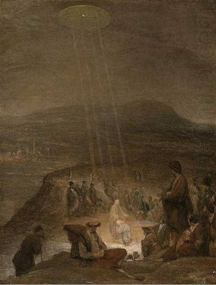 "Ufo nell'arte - Aert De Gelder ""The Baptism of Christ"""