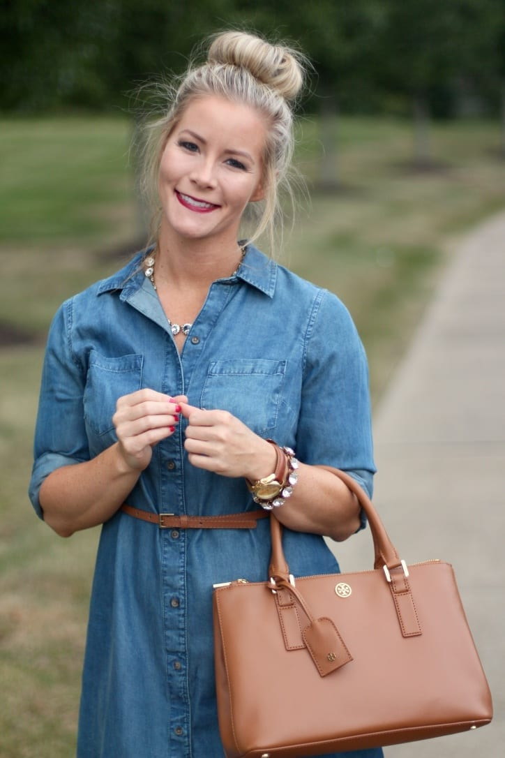 Chambray dress fashion