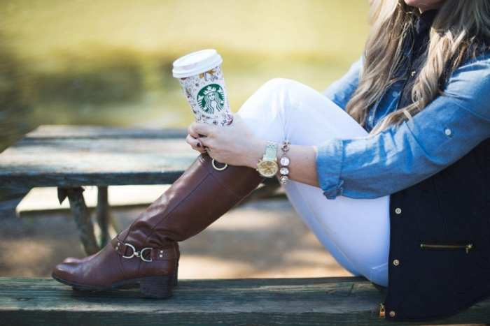 Afternoon Espresso-Blogger-Puffer Vest- J.Crew-White Denim-Joe's Jeans- Tory Burch Riding Boots-Ashley Pletcher8