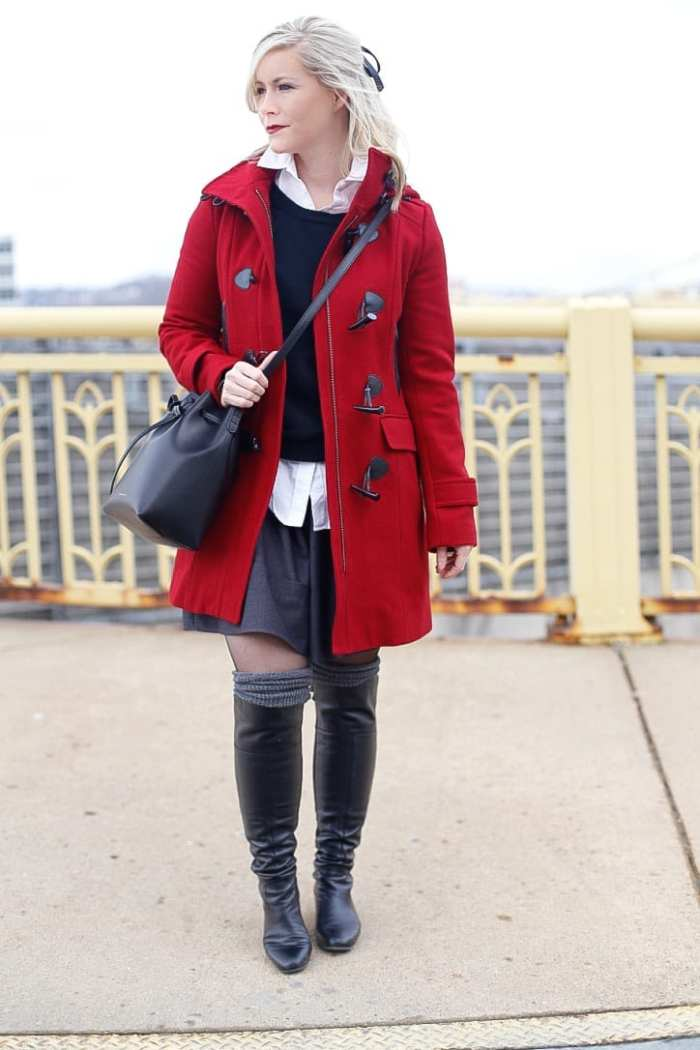 Red-Coat-Tommy-Hilfiger-Coat-Afternoon-Espresso-Red-Blogger (5 of 6)