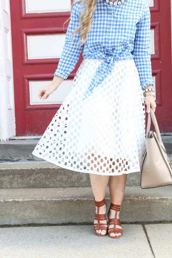 flirty midi skirt -Flirty-Shein Skirt-Midi Skirt-Sole Society Sandals - J.Crew Plaid -1