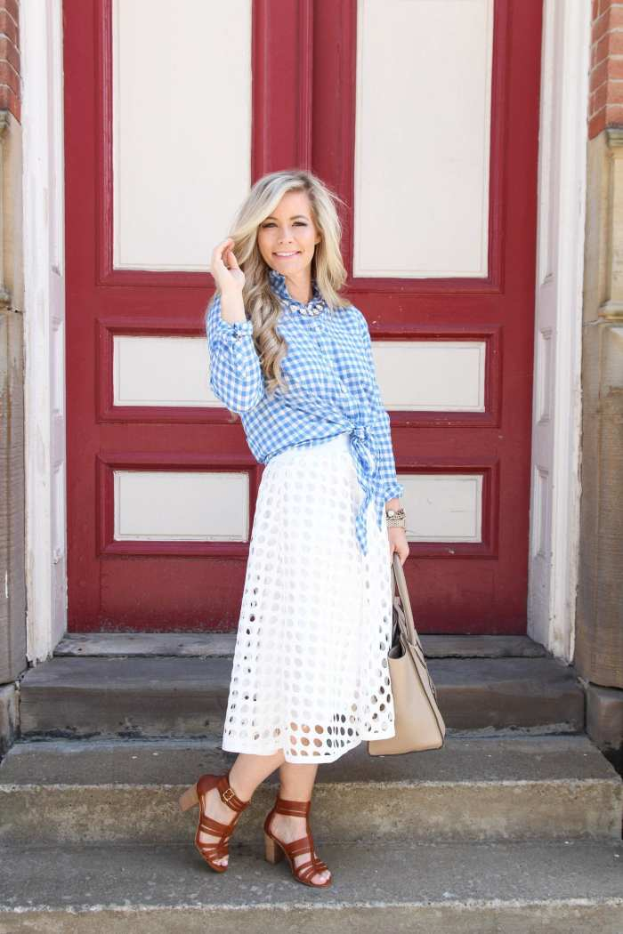 flirty midi skirt -Flirty-Shein Skirt-Midi Skirt-Sole Society Sandals - J.Crew Plaid -7