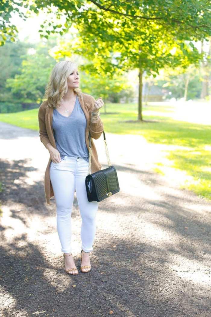 NSALE- Cozy Sweater - Fall wardrobe Transition - White Denim -1