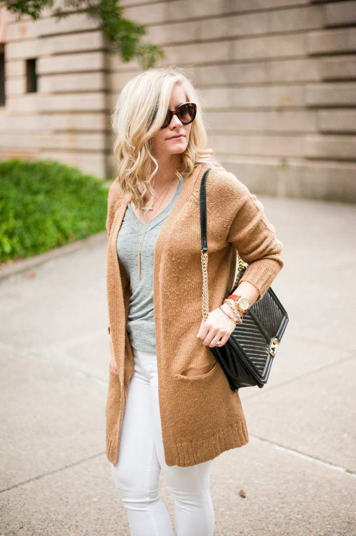 NSALE- Cozy Sweater - Fall wardrobe Transition - White Denim -11