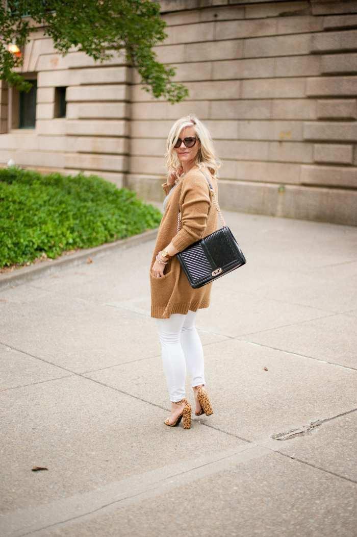 NSALE- Cozy Sweater - Fall wardrobe Transition - White Denim -13