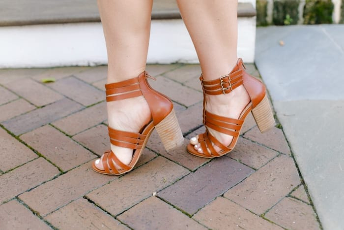Ashley Pletcher's Sole Society sandals were the perfect shoe for exploring Charleston, SC on her vacation.