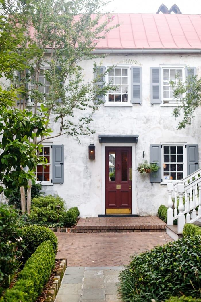 Blogger Ashley Pletcher stays at Zero George, quaint and charming boutique hotel during her stay in Charleston, SC