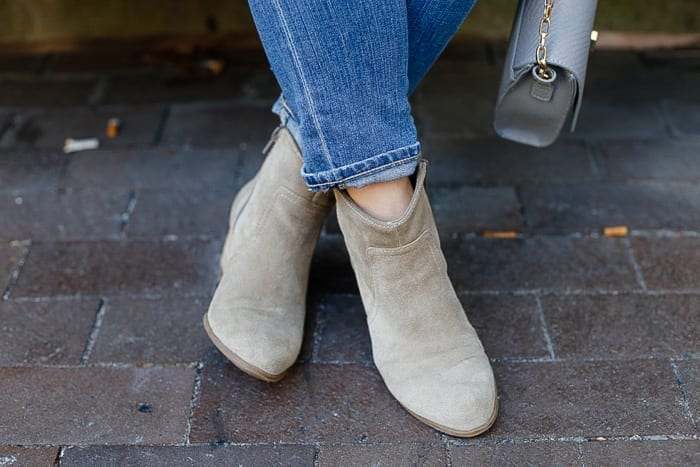 Blogger, Ashley Pletcher loves these classic Sole Society booties to wear during the cooler months.