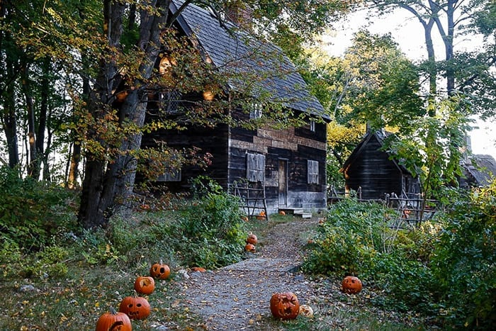 Old Pioneer village in Salem, MA is a filming location in the movie Hocus Pocus.