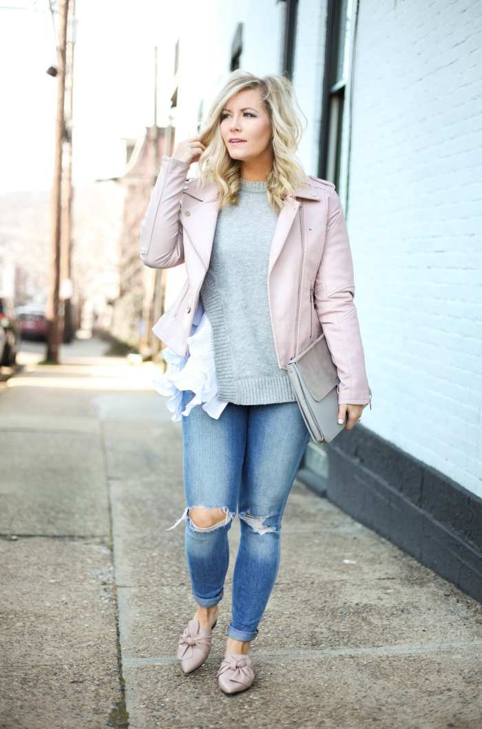 How to transition your wardrobe into Spring with moto jackets
