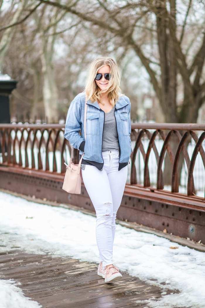 Spring Athleisure- Fashion- Ashley Pletcher- Blogger- Afternoon Espresso- Pittsburgh - Chelsea Collective - Lucy IndiGo- Blush