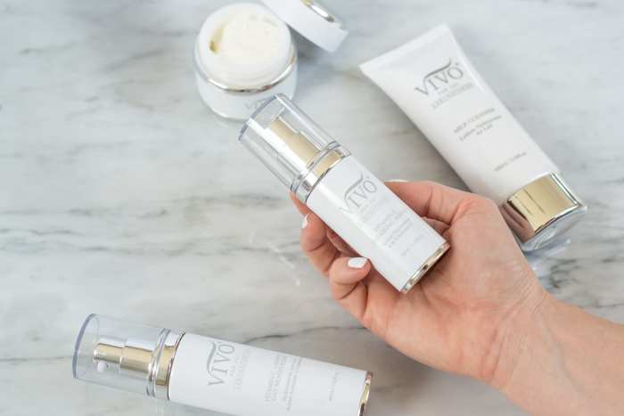 Updating your spring beauty routine with vivo per lei Milk Cleanser and Vitamin C serum
