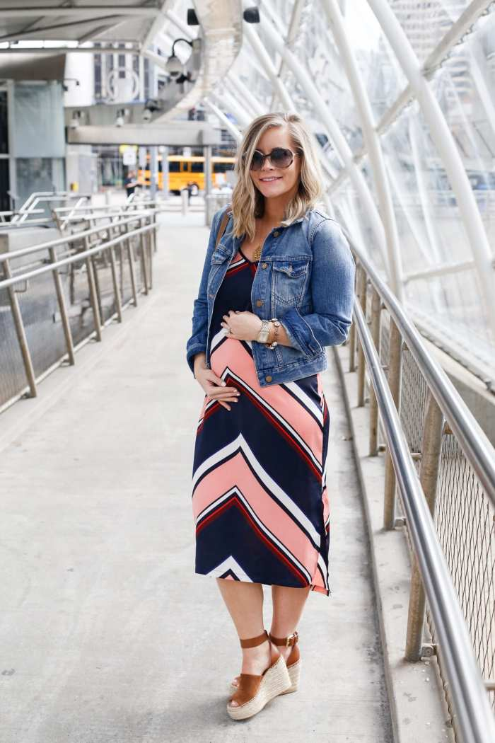 Target Slip Dress - Maternity Style- Maternity Fashion - Target Does it Again - Madewell Denim - See Eyewear