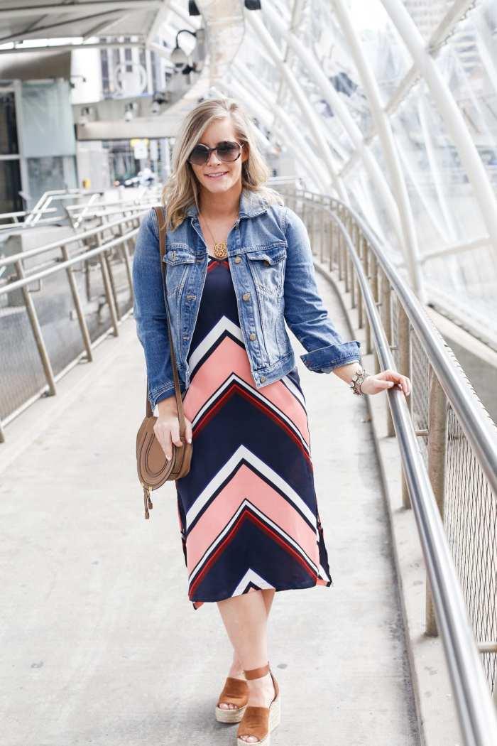 SEE Eyewear- Target Slip Dress - Bauble Bar Necklace - Madewell Denim