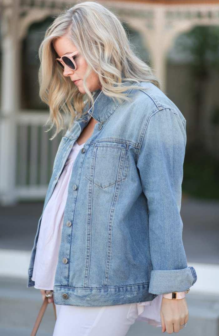 Fashion Blogger- Maternity Fashion - 5 Summer Essentials- Ashley Pletcher- Afternoon Espresso- Anthropologie Denim