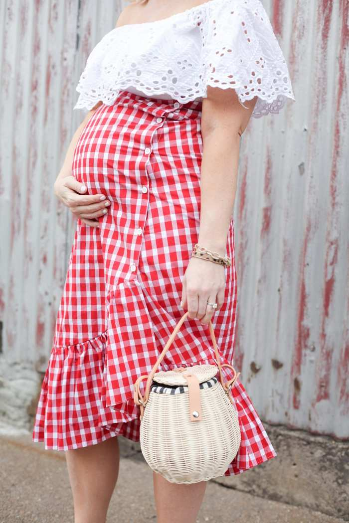 Summer Gingham Basket Bags