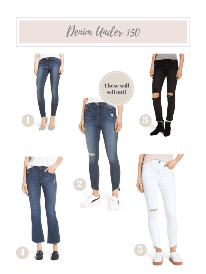 Denim under $50 - Nordstrom- Anniversary Sale- Ashley Pletcher- Blogger