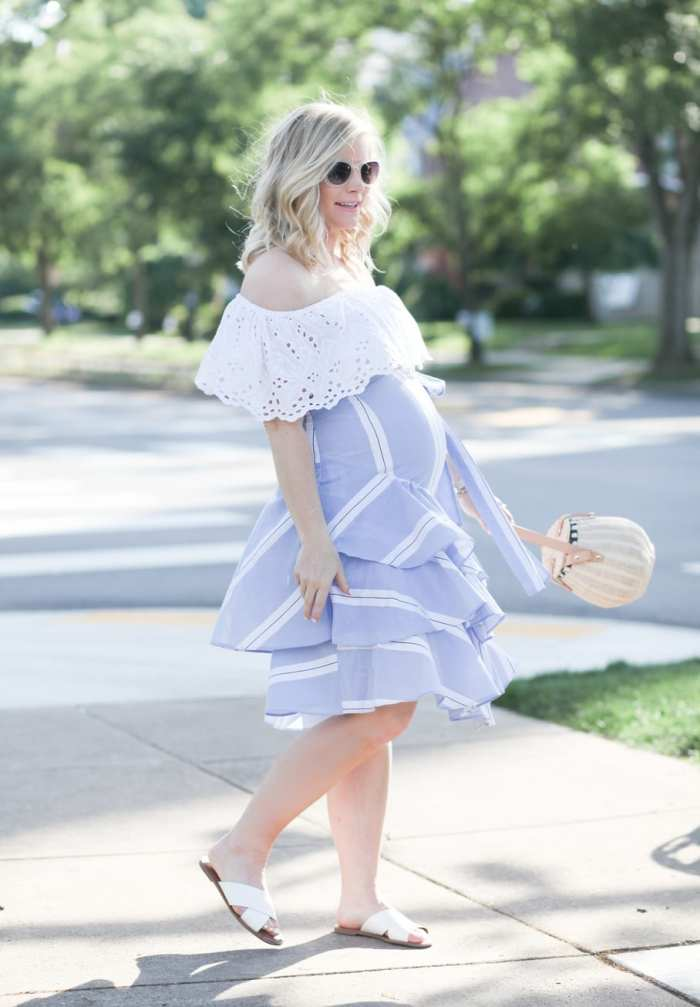 Ashley Pletcher - fashion blogger - maternity - maternity fashion - ruffle trends - ruffle skirt