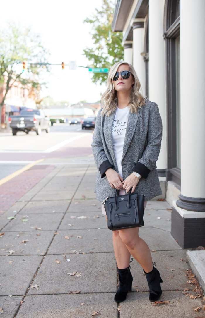 Blogger- Afternoon Espresso- Boyfriend Blazer- Celine Bag- Pittsburgh