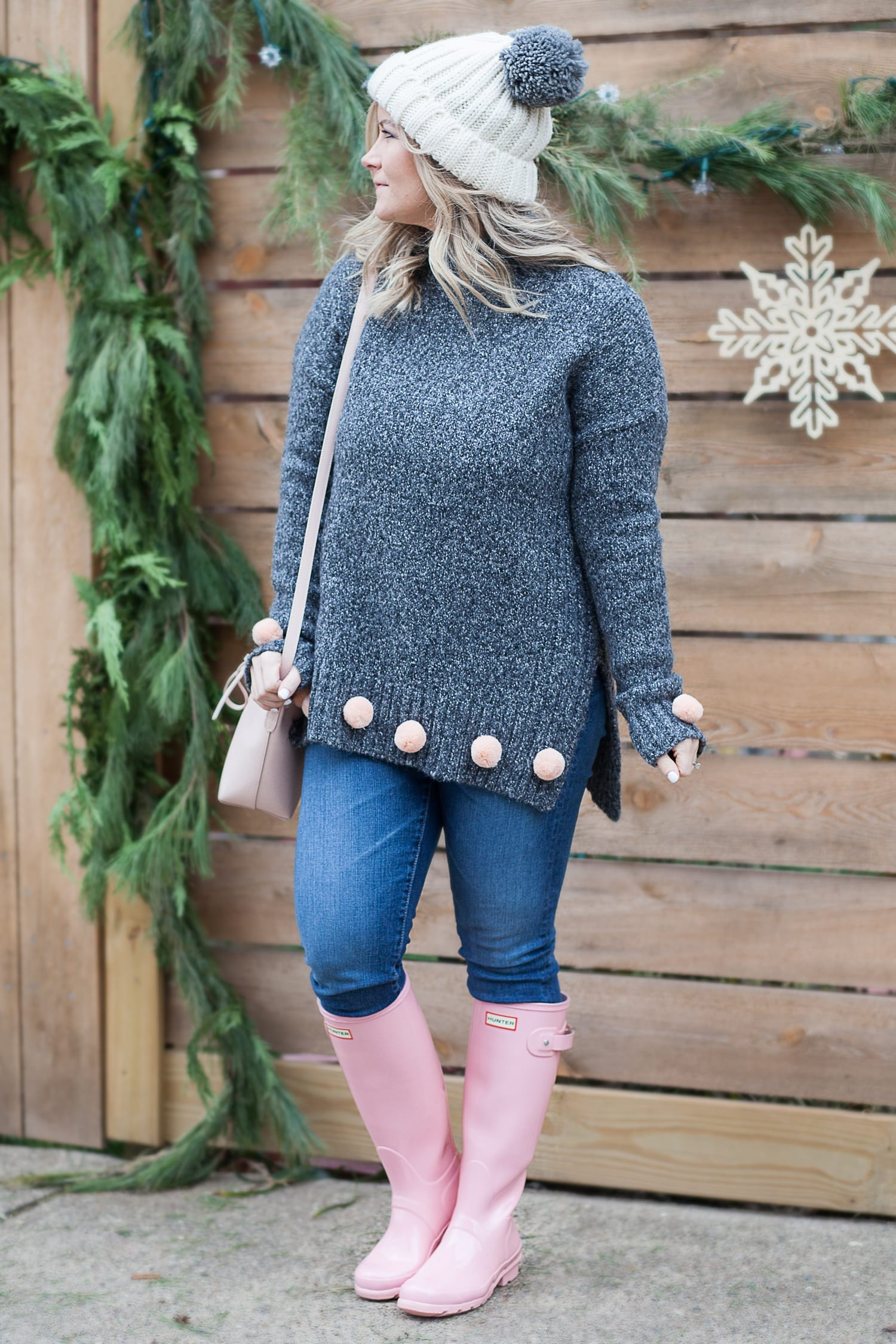 A Pom Pom Sweater Full of Holiday Cheer + A SEE Eyewear Giveaway