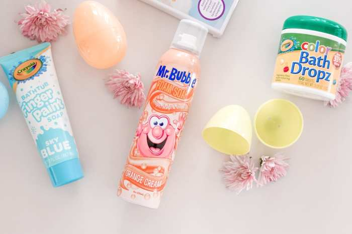 colorful easter basket ideas- Mr. Bubble, Color Bath Dropz - Crayola Finger Paint - Crayola