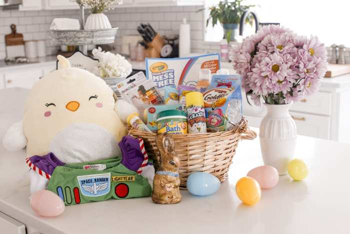 colorful easter basket ideas