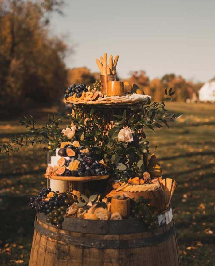 Charcuterie Table- Backyard wedding- covid wedding ideas- grazing table- Mediterra Bakehouse- Mediterra Cafe- Pittsburgh-Burgh Brides