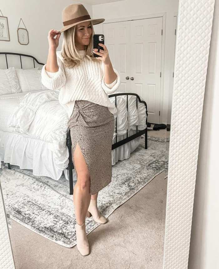 Leopard Midi Skirt - How to Style a leopard Midi skirt - Ashley Pletcher- Mom Blog